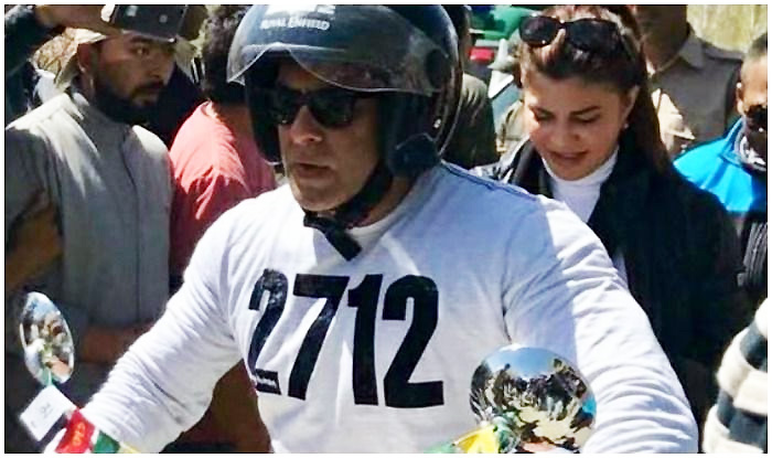 Salman and Jacqueline on bike